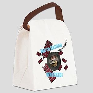 Wrecking Ball CUSTOM TEXT n PHOTO Canvas Lunch Bag