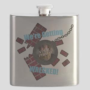 Wrecking Ball CUSTOM TEXT n PHOTO Flask