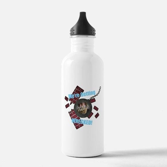 Wrecking Ball CUSTOM TEXT n PHOTO Water Bottle