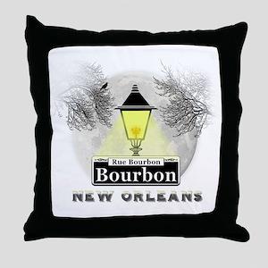 New Orleans Full Moon Throw Pillow