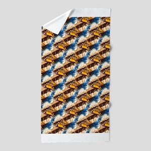 Wings Aloft Pattern Beach Towel