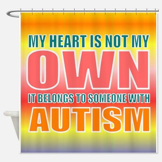 autism orange Shower Curtain