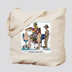 A Meeting of Audio Buffs Tote Bag