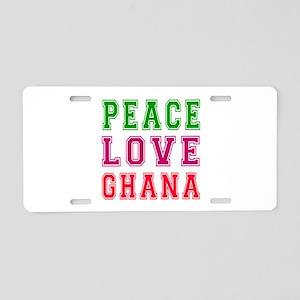 Peace Love Ghana Aluminum License Plate