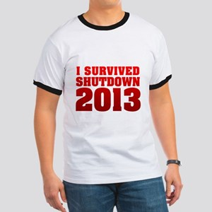 I Survived Shutdown 2013 T-Shirt