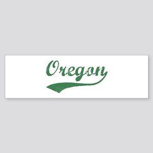 Vintage Oregon (Green) Bumper Sticker