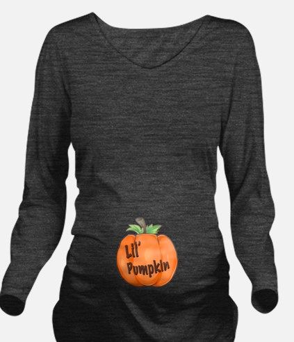 Lil Pumpkin Long Sleeve Maternity T-Shirt