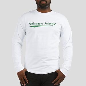 Vintage Galapagos Islands (Gr Long Sleeve T-Shirt