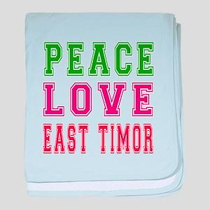 Peace Love East Timor baby blanket