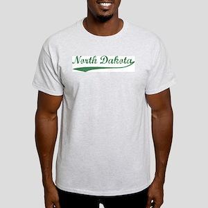 Vintage North Dakota (Green) Ash Grey T-Shirt