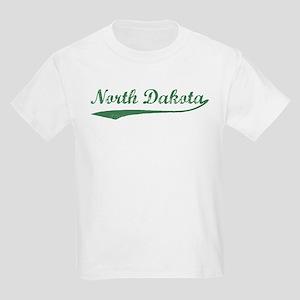 Vintage North Dakota (Green) Kids T-Shirt