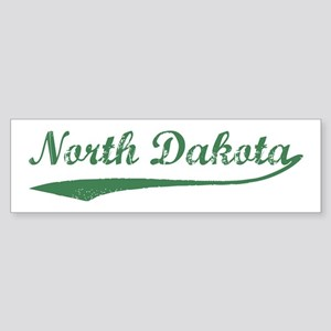 Vintage North Dakota (Green) Bumper Sticker