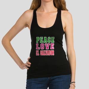 Peace Love El Salvador Racerback Tank Top