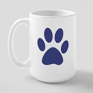 Blue Paw Print Large Mug