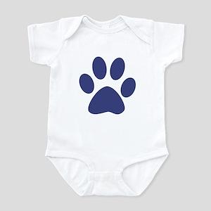 Blue Paw Print Infant Bodysuit