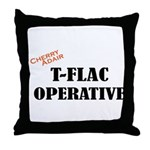 T-FLAC Operative w/Cherry Throw Pillow