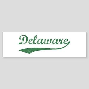 Vintage Delaware (Green) Bumper Sticker