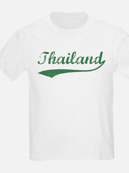 Vintage Thailand (Green) Kids T-Shirt