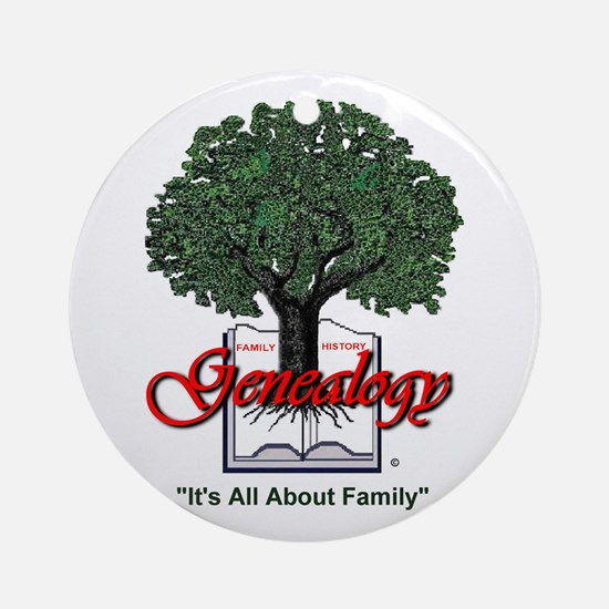 It's All About Family Ornament (Round)