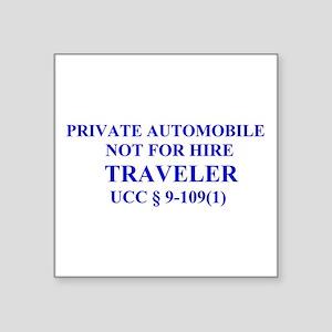 TRAVELER - Blue Sticker