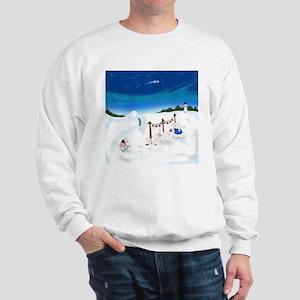 Christmas Bunny Stockings (twxtw) Sweatshirt