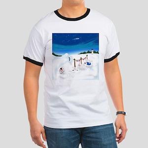 Christmas Bunny Stockings (twxtw) T-Shirt