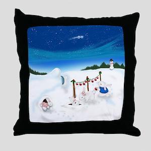 Christmas Bunny Stockings (twxtw) Throw Pillow