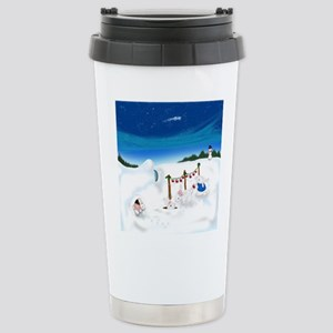 Christmas Bunny Stockings (twxtw) Travel Mug