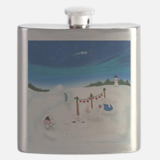 Christmas Bunny Stockings (twxtw) Flask