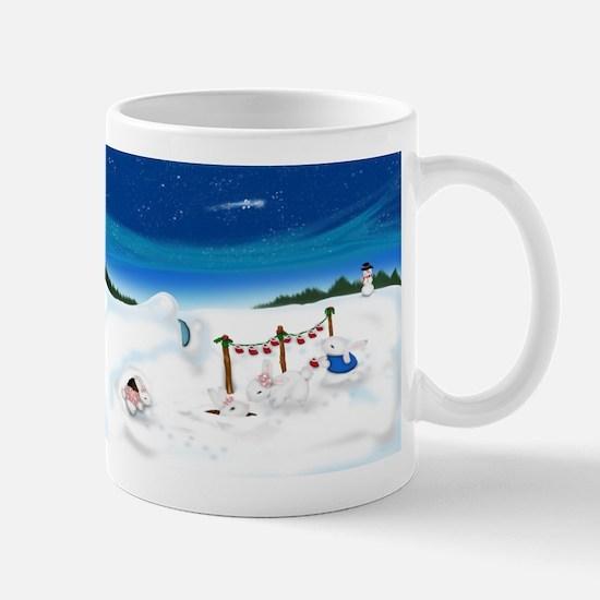 Christmas Bunny Stockings (twxtw) Mugs