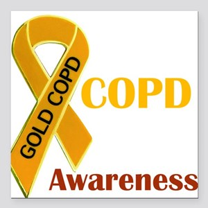 "COPD Awareness Square Car Magnet 3"" x 3"""