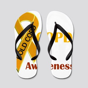 COPD Awareness Flip Flops