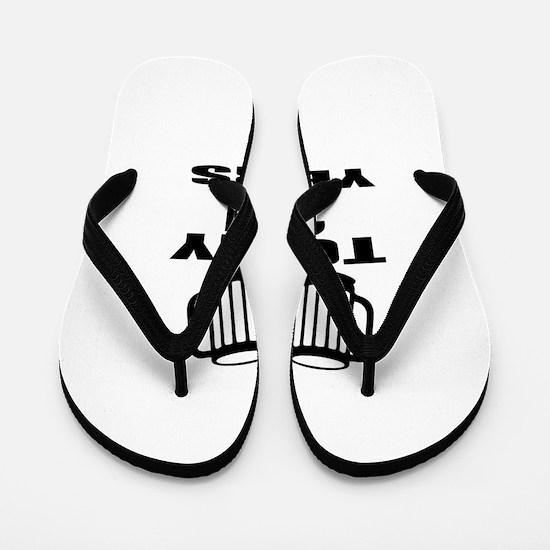 To My 21 Years Birthday Designs Flip Flops