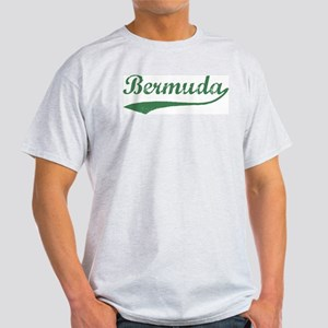 Vintage Bermuda (Green) Ash Grey T-Shirt