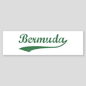 Vintage Bermuda (Green) Bumper Sticker