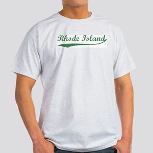 Vintage Rhode Island (Green) Ash Grey T-Shirt