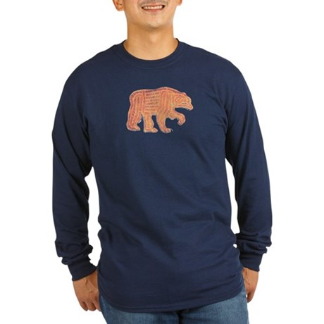 FURRY BEAR Long Sleeve Dark T-Shirt