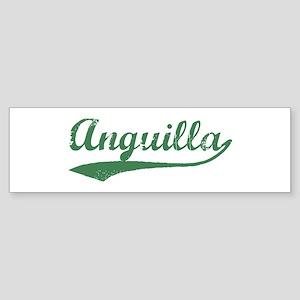 Vintage Anguilla (Green) Bumper Sticker