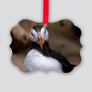 Puffin Horned 9020 Picture Ornament