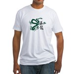 Jade Dragon Fitted T-Shirt