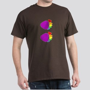 RAINBOW BEAR PAW @ VERTICAL PAWS_ DARK T-Shirt