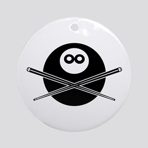 Pool Pirate Ornament (Round)