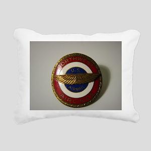US Airmail NWA Rectangular Canvas Pillow
