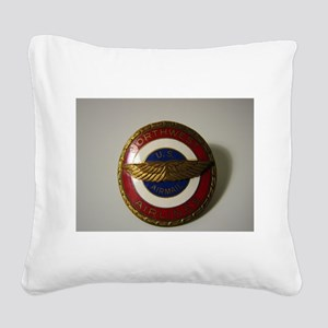 US Airmail NWA Square Canvas Pillow