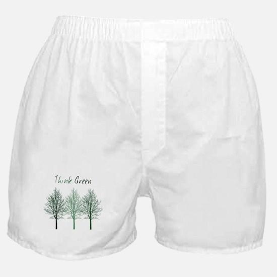 Think Green Trees Boxer Shorts