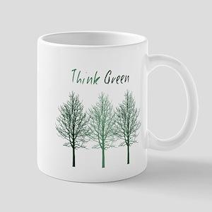 Think Green Trees Mugs
