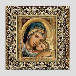 Theotokos Tile Coaster