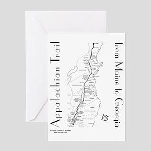 Appalachian Trail Map Greeting Card