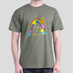 Sunshine Rainbows Dark T-Shirt