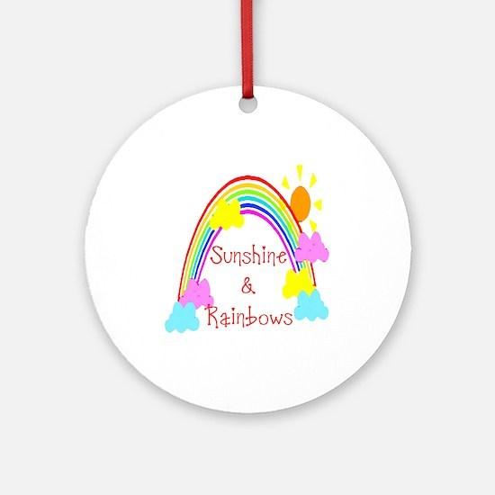 Sunshine Rainbows Ornament (Round)